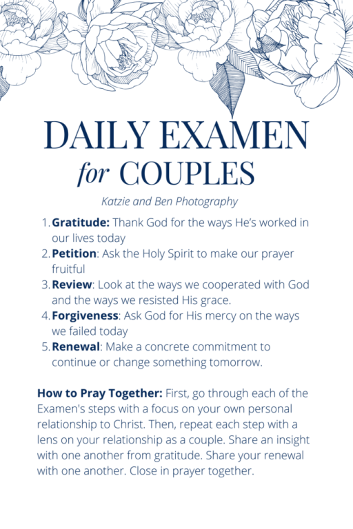 Daily examen for couples by Katzie and Ben Photography