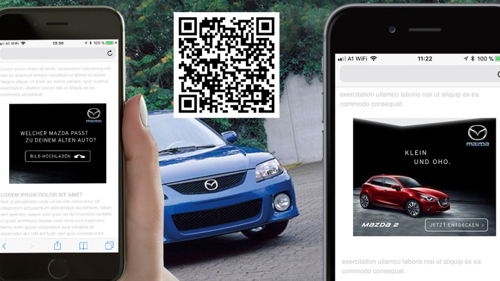Künstliche Intelligenz steuert Mazda Werbemittel