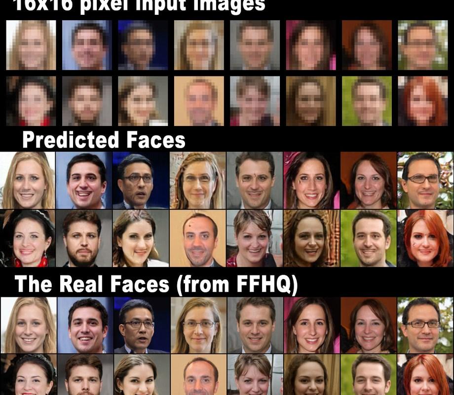 Aus verpixelten Bildern macht Künstliche Intelligenz scharfe