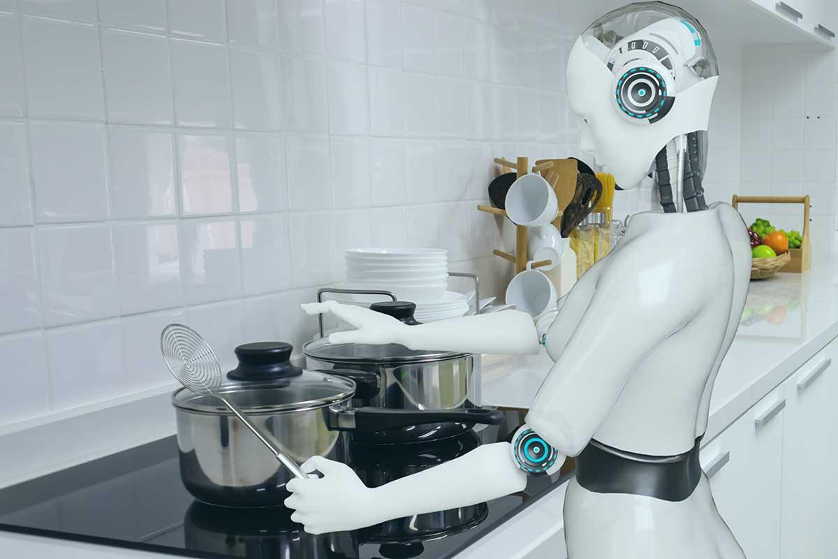 Roboter hilft in Küche