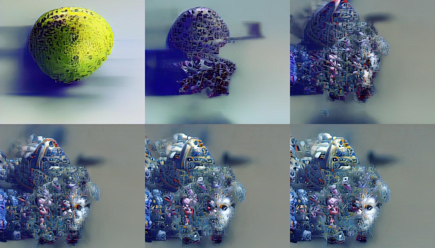 KI-Selbstporträt evolving