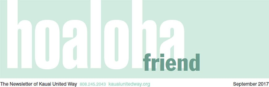 Kauai United Way Newsletter Header
