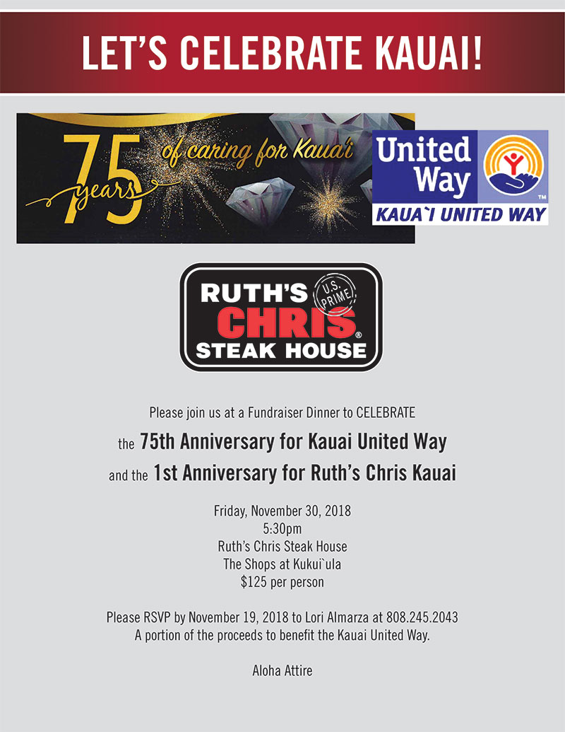 75th Anniversary Celebration at Ruth's Chris Steak House
