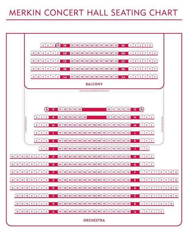Kaufmann Concert Hall Seating Chart