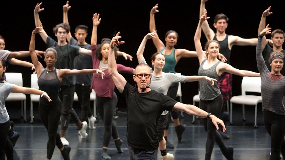 BFA Students in class with William Forsythe at a USC Kaufman performance space