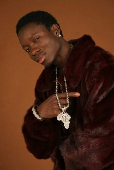 Michael Blackson Burgundy Mink Coat Marc Kaufman Furs