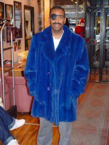 Slick Rick Blue Mink Fur Stroller