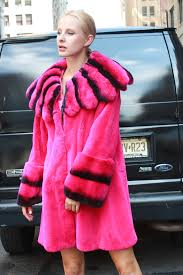This Beautiful Fuchsia Rex Fur Jacket with a Cross Cut Collar will make a statement wherever you go. Be Seen and Be Heard.