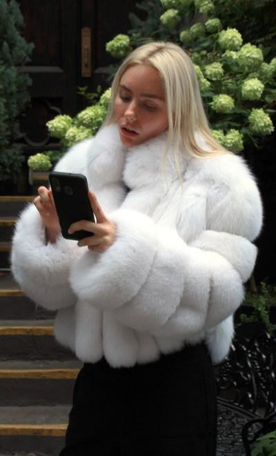 White Fox Bolero Jacket