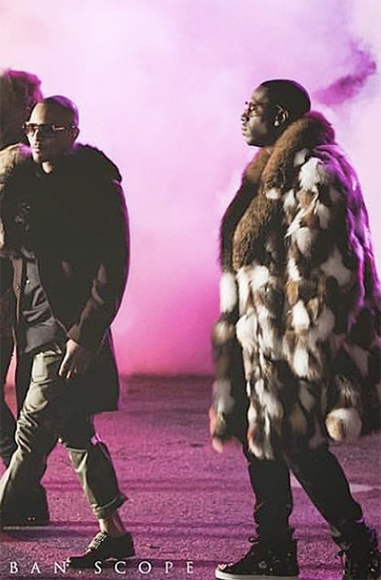 Young Dro Patchwork Mink Fur Coat Fox Fur Collar