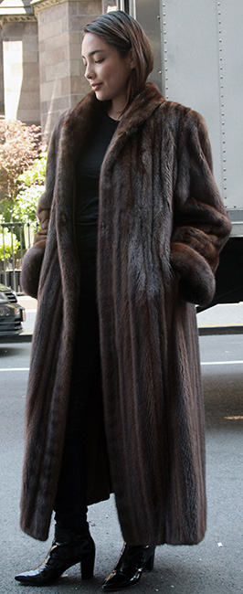 Brown mink coat