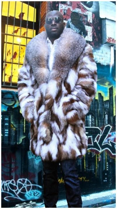 mens fox fur stroller
