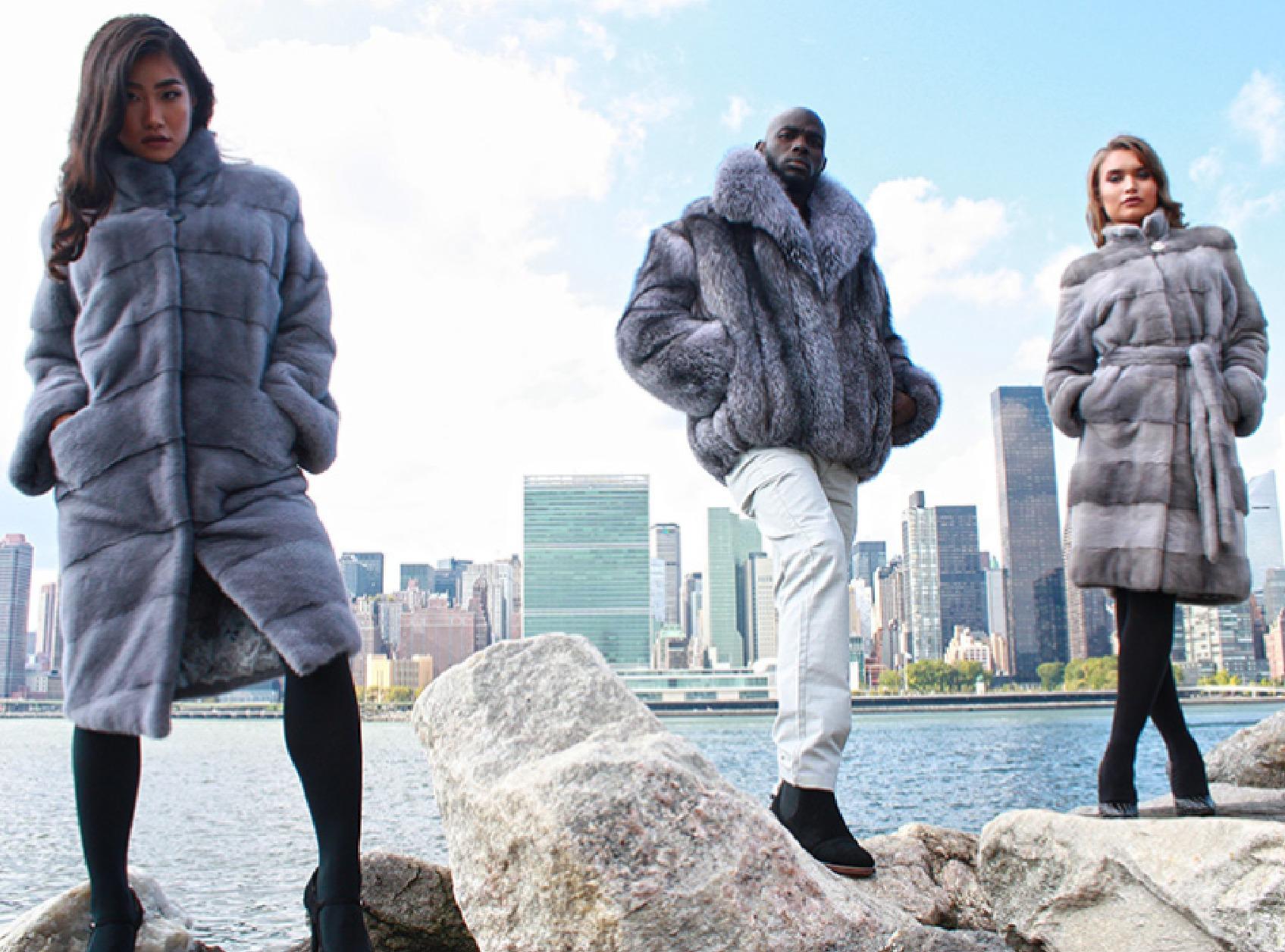 Fur Coats NYC Skyline