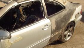 K. Krisko Skambinės sudegęs automobilis Mercedes 03