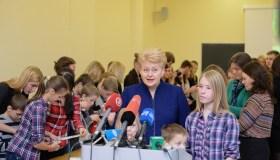 Dalia Grybauskaitė su vaikais