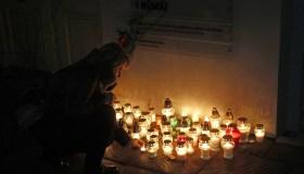 Teroro aukų Paryžiuje pagerbimas Kaune