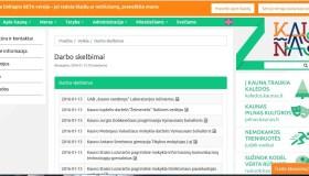 Darbo skelbimas Kauno savivaldybės puslapyje