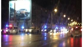 Policijos pajėgos prie stoties