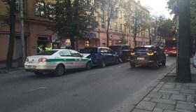 Avarijoje – ir policijos ekipažas