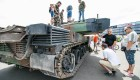 Karinės technikos paroda Nemuno saloje