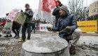 Protestas prie Kauno miesto savivaldybės
