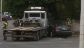 """""""Volkswagen Passat"""" ir techninės pagalbos automobilio """"MAN""""  avarija"""