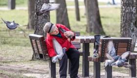 Žmonės Kauno parkuose