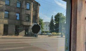 Šv. Gertrūdos gatvėje suniokotos vitrinos