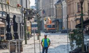 Uždaryta Vilniaus gatvė