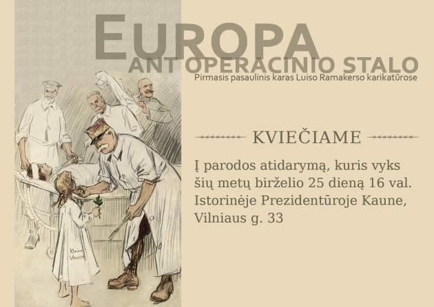 Europa ant operacinio stalo: Pirmasis pasaulinis karas Luiso Ramakerso karikatūrose