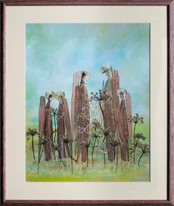 """Laimos Dzigaitės kūrinių paroda """"Žolynų virsmas"""""""