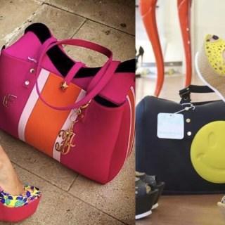 high heels with handbags