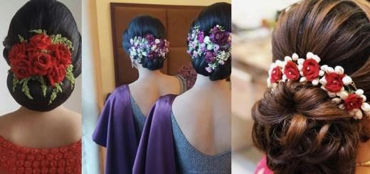 Flowers on bun