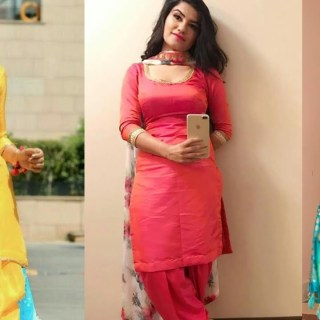 Plain punjabi suits in ethnic wear
