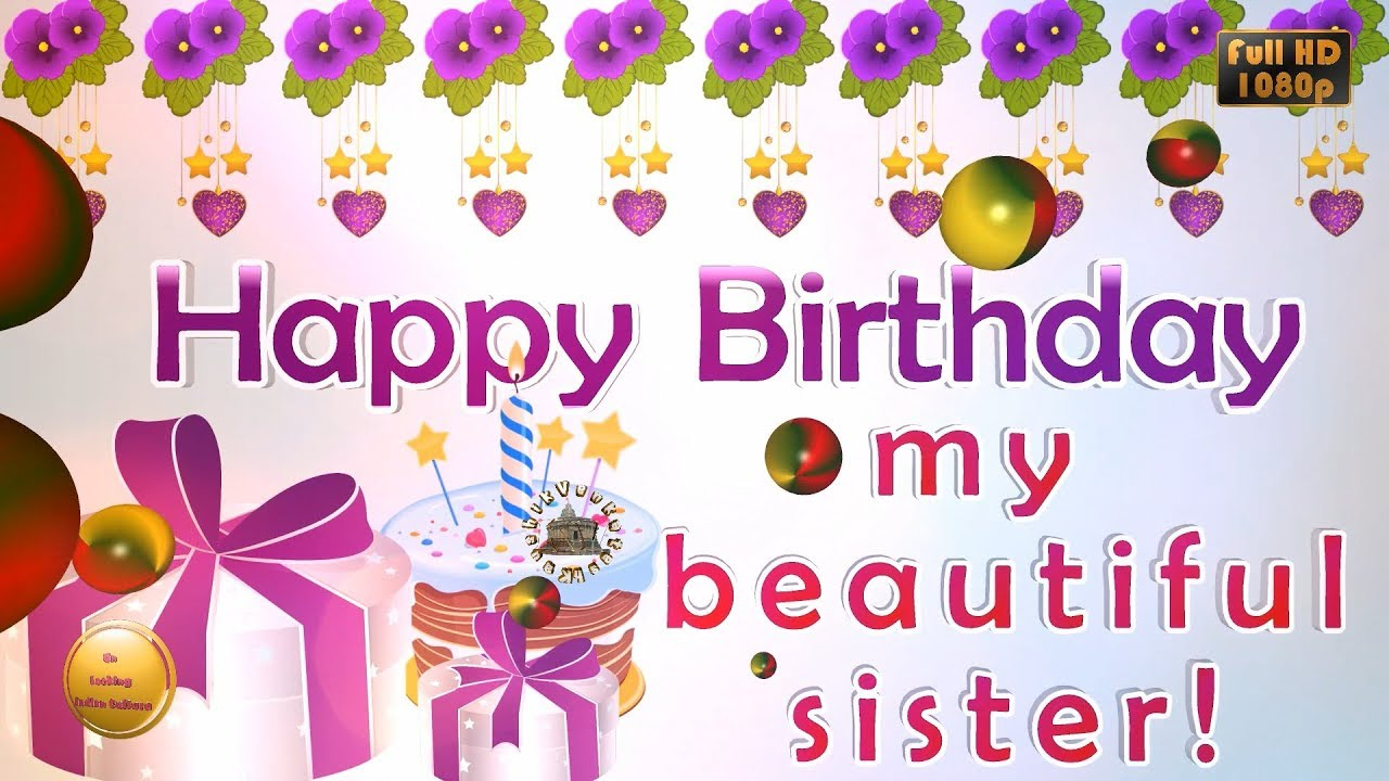 Greetings for Sister's Birthday