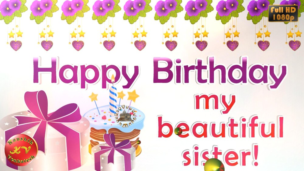Greetings Image for Sister's Birthday.
