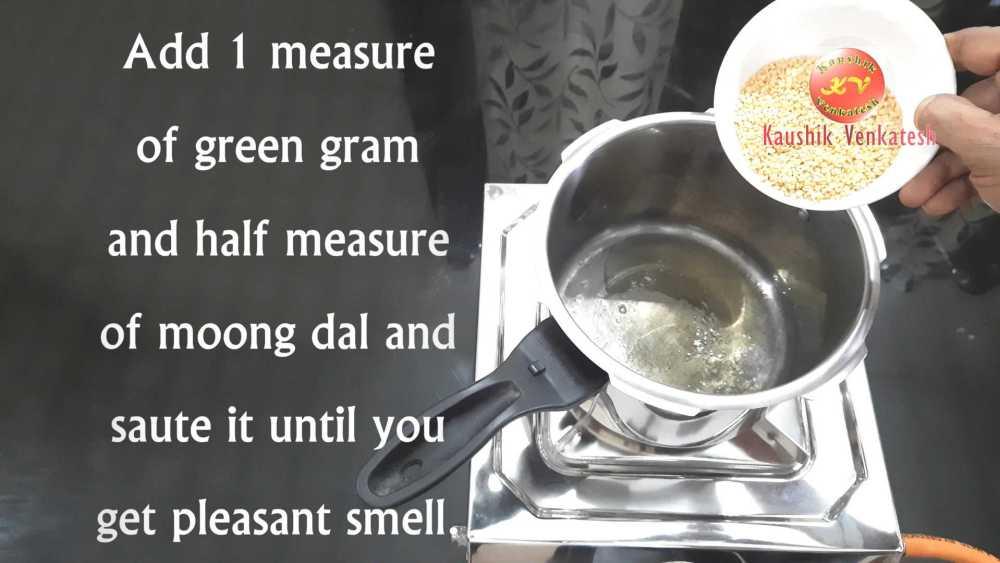 Ven Pongal Recipe Step 2