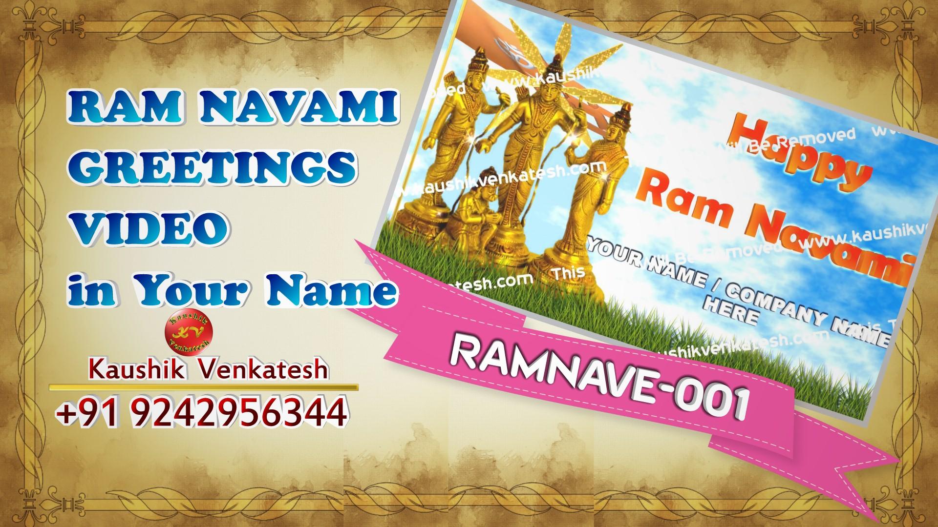 Personalized Video Greetings for Hindu Festival Ram Navami.