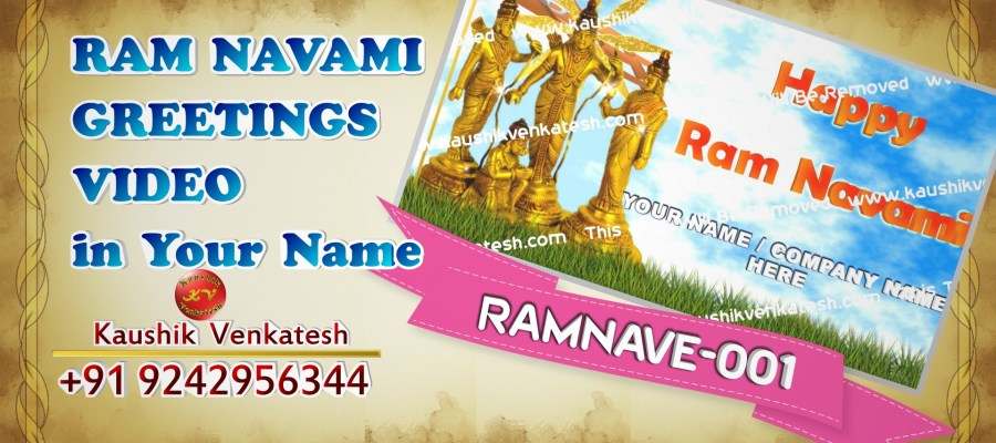 Personalized Video Greetings for Hindu Festival Ram Navami.