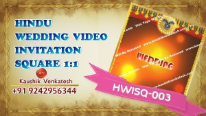 Square Video of Traditional Hindu Wedding Invitation for Mobile