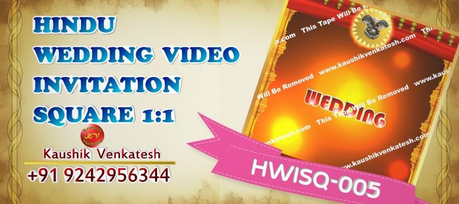 Square Video of Hindu Wedding Invitation for Mobile (Instagram)