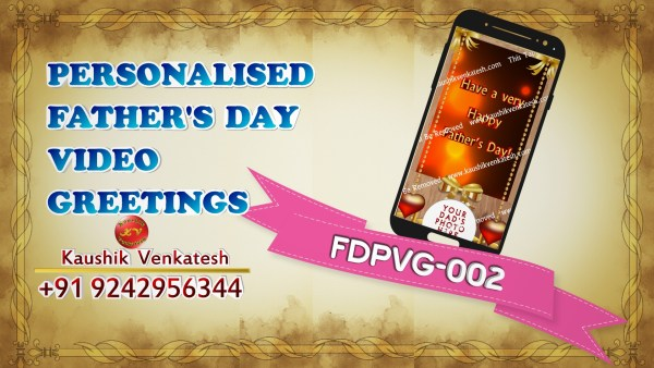Product Image of Customized Happy Father's Day Wishes Video