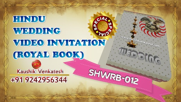 Video of Special Indian Royal Wedding Invitation for Traditional Hindu Marriage in Full HD