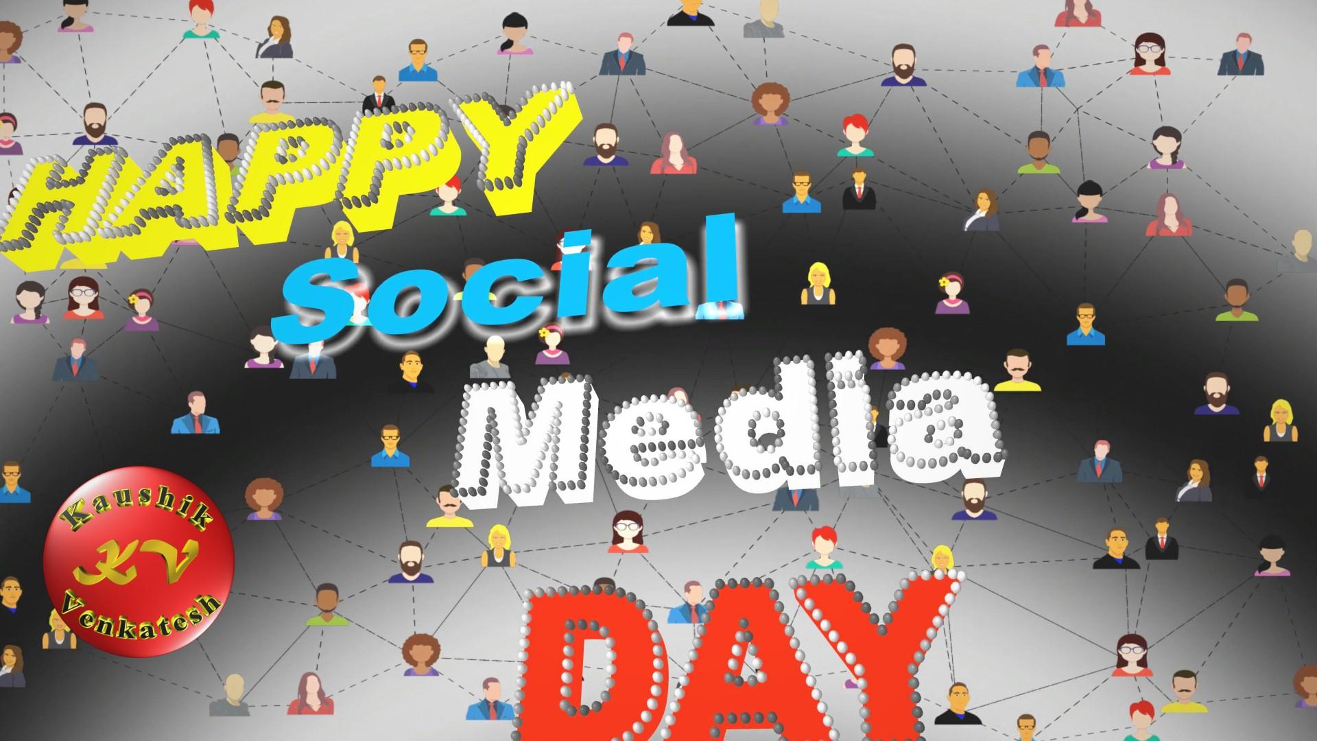 Greetings Image of Happy Social Media Day Status