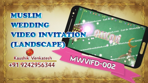 Product Image of Muslim Wedding Invitation Video in Full HD