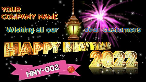 Image of Corporate New Year Greetings 2022