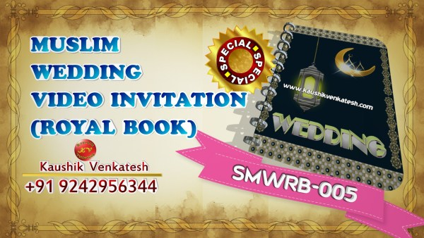 Product image of Special Muslim Royal Book Wedding Invitation Video