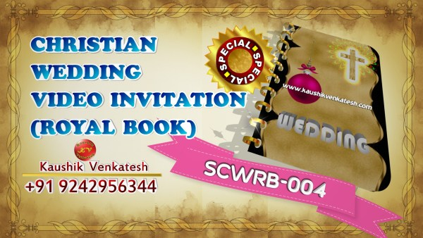 Video of Special Indian Royal Wedding Invitation for Christian in Full HD