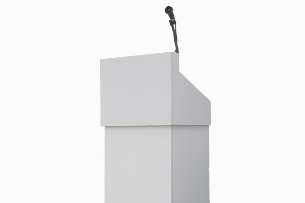 Podium with light and mic mount