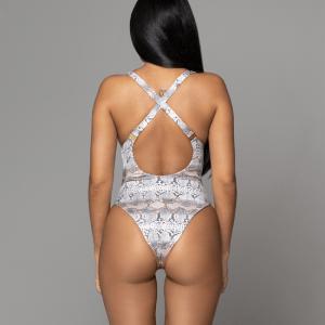 The Lilly Stone-Sanke back swimwear de una pieza